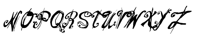 Mitsoukos Regular Font UPPERCASE