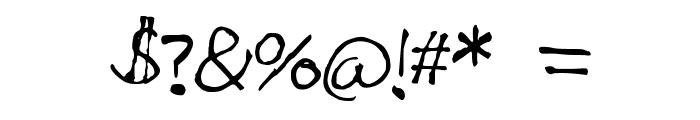 Mitza_Script Font OTHER CHARS