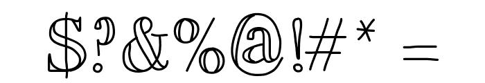 MixBrescia Font OTHER CHARS