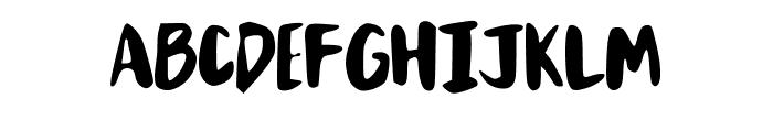 MixBrush Font LOWERCASE