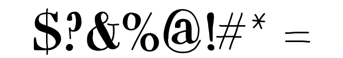 MixCarpathia Font OTHER CHARS