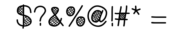 MixCrosshatch Font OTHER CHARS