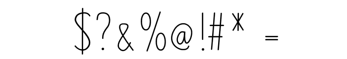 MixLean Font OTHER CHARS