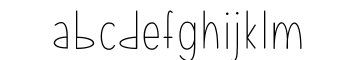 MixLean Font LOWERCASE