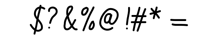 MixScribble Font OTHER CHARS