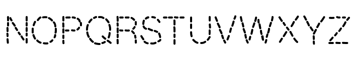 MixStitch Font UPPERCASE
