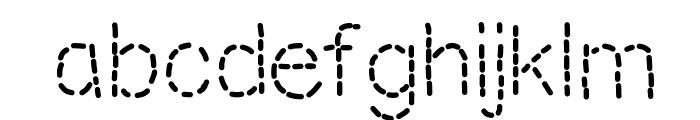 MixStitch Font LOWERCASE