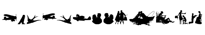 Mixed Silhouettes Free Font LOWERCASE