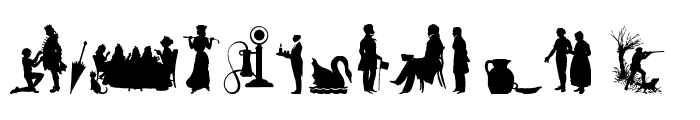 Mixed Silhouettes Seven Regular Font LOWERCASE