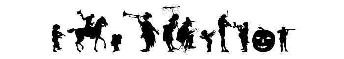 Mixed Silhouettes Six Font OTHER CHARS