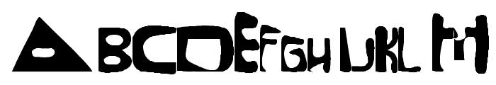 Mixed Up Distortio Regular Font UPPERCASE
