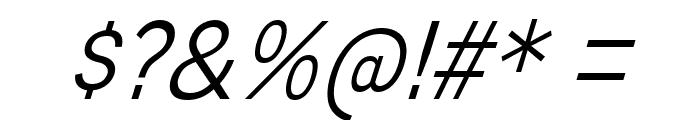 MixolydianTitlingLt-Italic Font OTHER CHARS