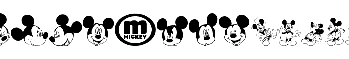 mickey m tfb Font LOWERCASE