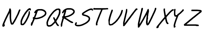 miwaza smart girl Font UPPERCASE