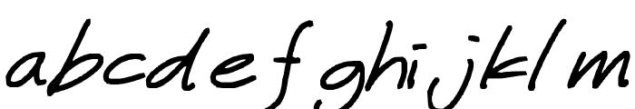 miwaza smart girl Font LOWERCASE