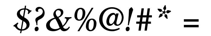 MinisterStd-BookItalic Font OTHER CHARS