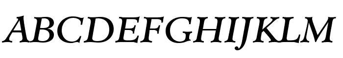 MinisterStd-BookItalic Font UPPERCASE