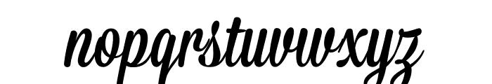 Mission-Script Font LOWERCASE