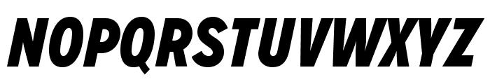 MissionGothic-BlackItalic Font UPPERCASE