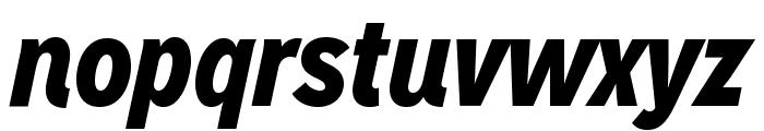 MissionGothic-BlackItalic Font LOWERCASE