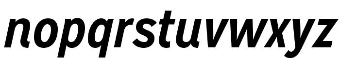 MissionGothic-BoldItalic Font LOWERCASE