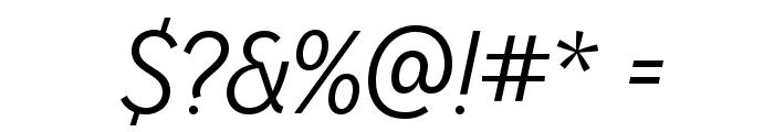 MissionGothic-LightItalic Font OTHER CHARS