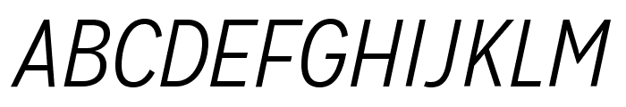 MissionGothic-LightItalic  What Font is