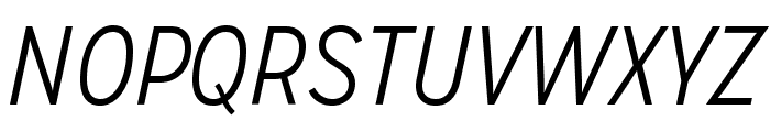 MissionGothic-LightItalic Font UPPERCASE