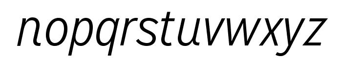 MissionGothic-LightItalic Font LOWERCASE