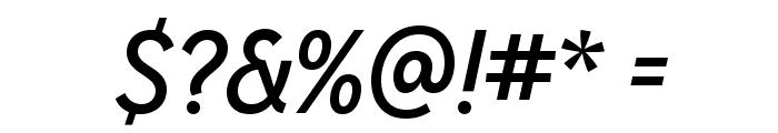 MissionGothic-RegularItalic Font OTHER CHARS