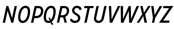 MissionGothic-RegularItalic Font UPPERCASE