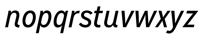MissionGothic-RegularItalic Font LOWERCASE