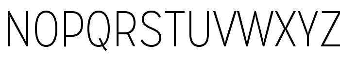 MissionGothic-Thin Font UPPERCASE
