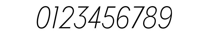 MissionGothic-ThinItalic Font OTHER CHARS