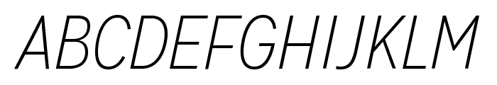 MissionGothic-ThinItalic  What Font is