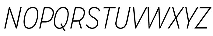 MissionGothic-ThinItalic Font UPPERCASE