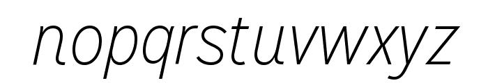MissionGothic-ThinItalic Font LOWERCASE