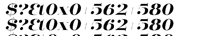 Mittwoch Black Italic Font OTHER CHARS