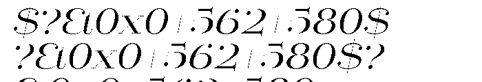 Mittwoch Italic Font OTHER CHARS