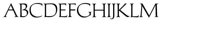 Michelangelo BQ Regular Font UPPERCASE