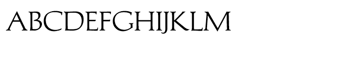 Michelangelo BQ Regular Font LOWERCASE
