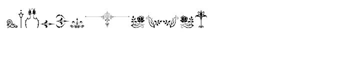 Micro Fleurons Sixteen Font UPPERCASE