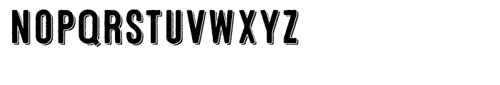 Microbrew One 3D Font LOWERCASE