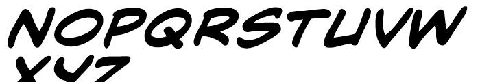 Mild Mannered Bold Italic Font LOWERCASE