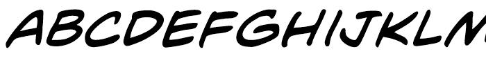 Mild Mannered Italic Font LOWERCASE