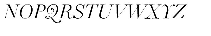 Miller Banner Light Italic Font UPPERCASE