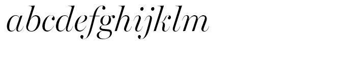 Miller Banner Light Italic Font LOWERCASE