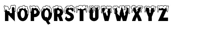 Mingler Snowy Font UPPERCASE
