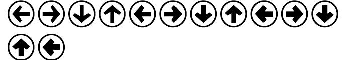 Mini Pics Directional ra Font UPPERCASE