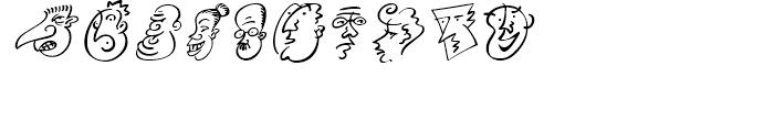 Mini Pics Head Buddies Regular Font OTHER CHARS